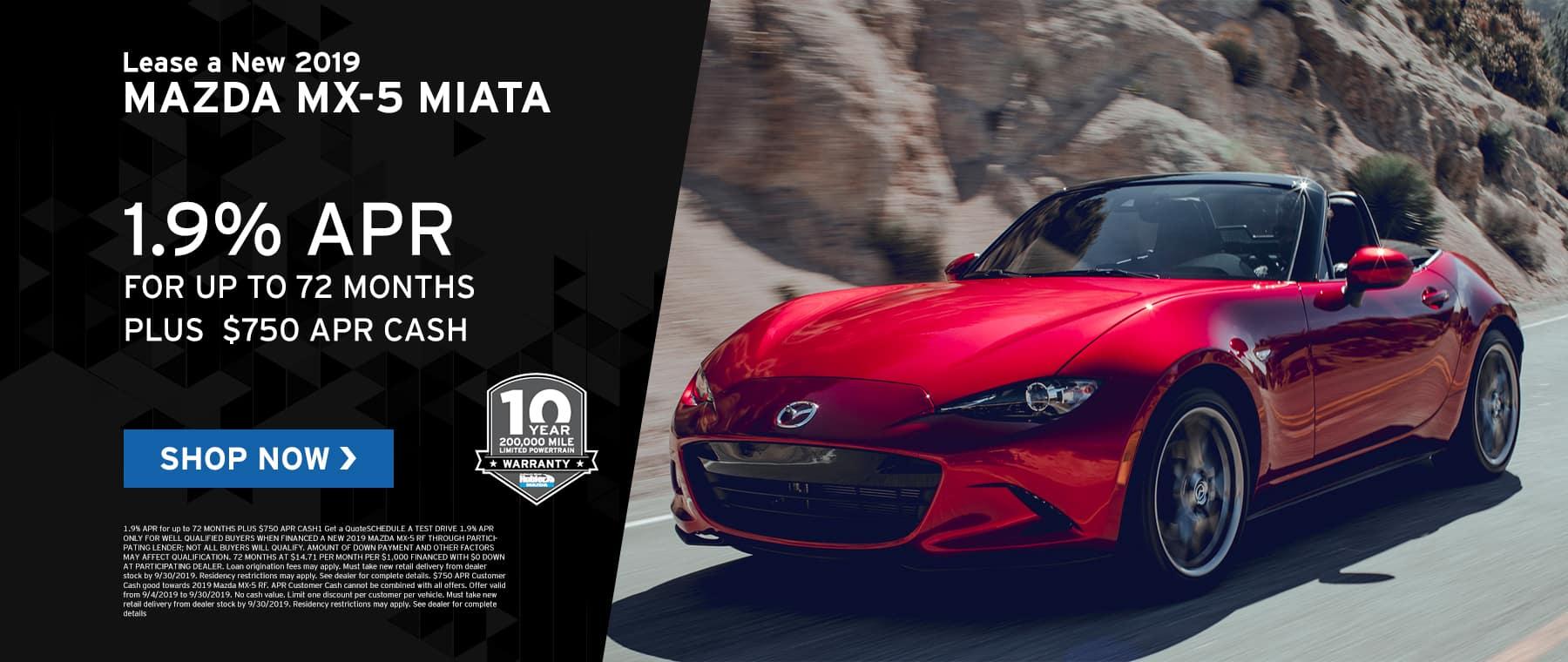Miata MX-5 offers at Hubler Mazda