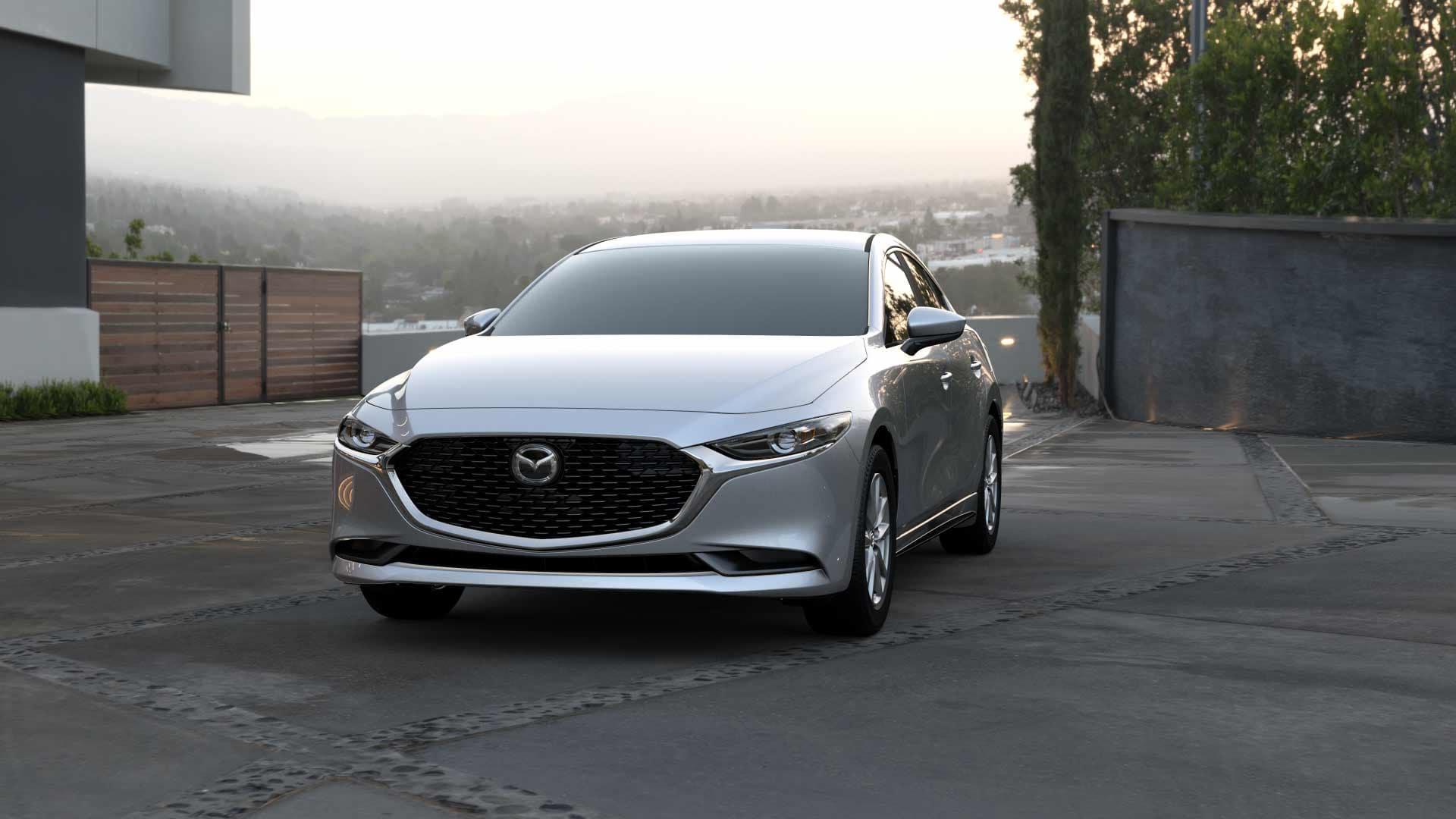 2021 mazda3 sedan exterior silver