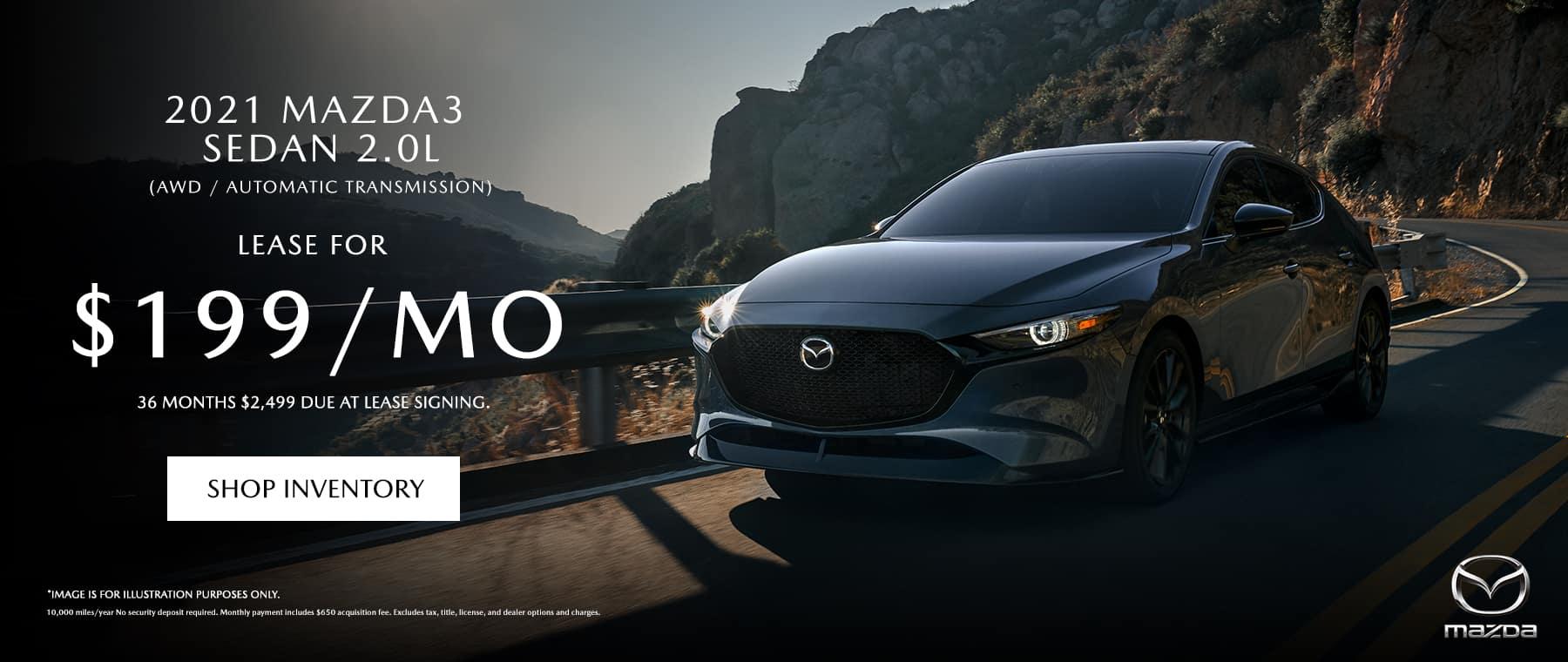 2021 Mazda3 Sedan 2.0L