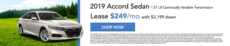 Check out our 2019 Accord Sedan offers