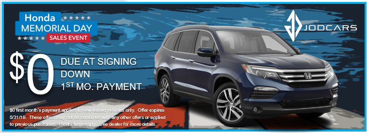 Check out the Honda Pilot this Memorial Day