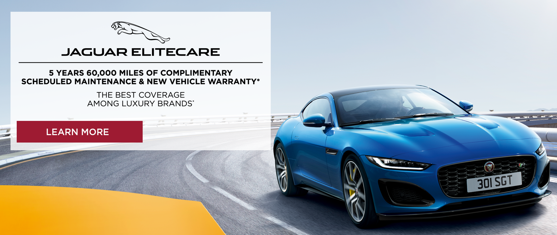 Jaguar Elitecare Advantage. Best coverage among luxury brands. Click to learn more.