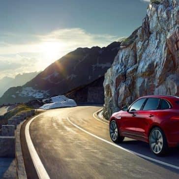 2019 Jaguar F-Pace on mountain road