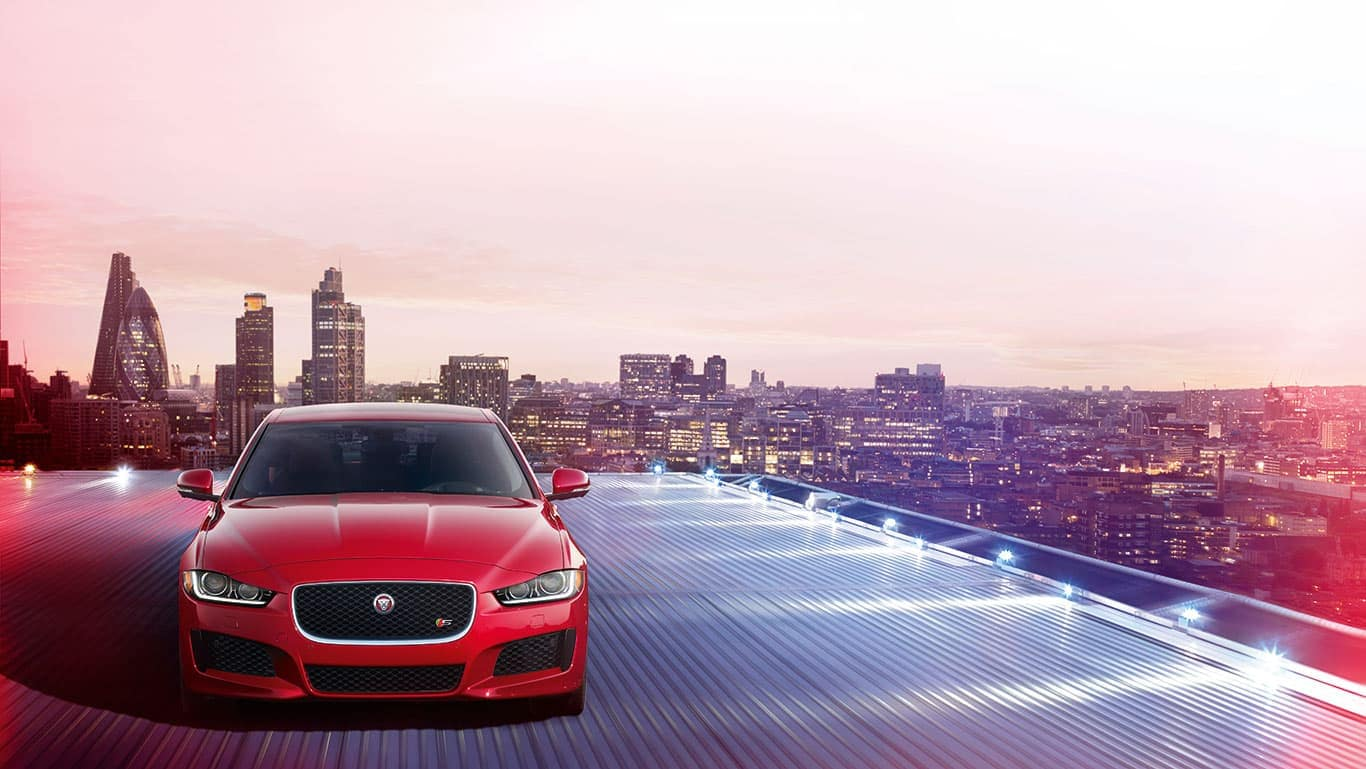 2019 Jaguar XE front view parked