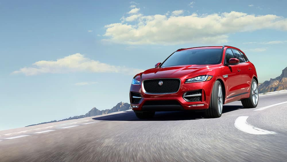 2019 Jaguar F-PACE exterior in red
