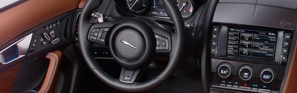Jaguar Interior showing Bluetooth Connectivity