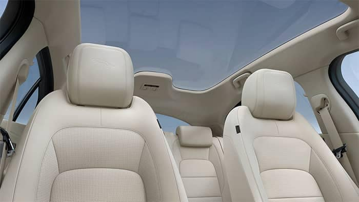 Jaguar I-PACE Interior Seating and Panoramic Roof