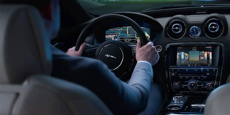 Man driving Jaguar using Jaguar Incontrol