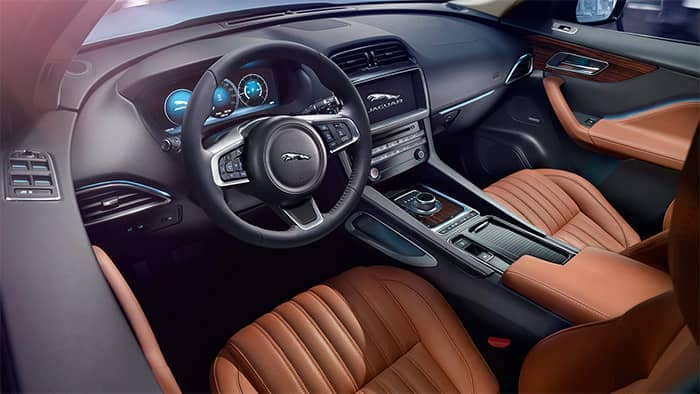2020 Jaguar F-PACE Interior Front Seating and Dashboard Features