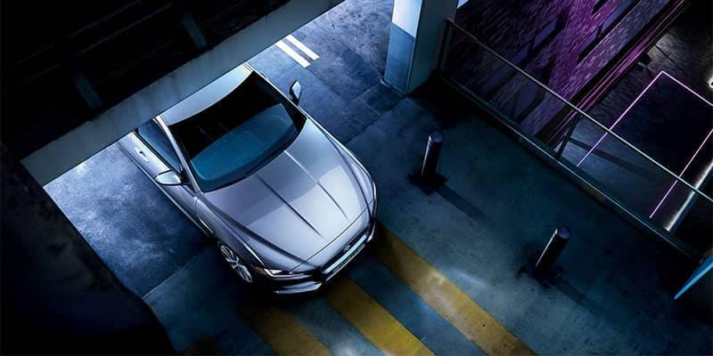 Jaguar XE Driving into an underground garage