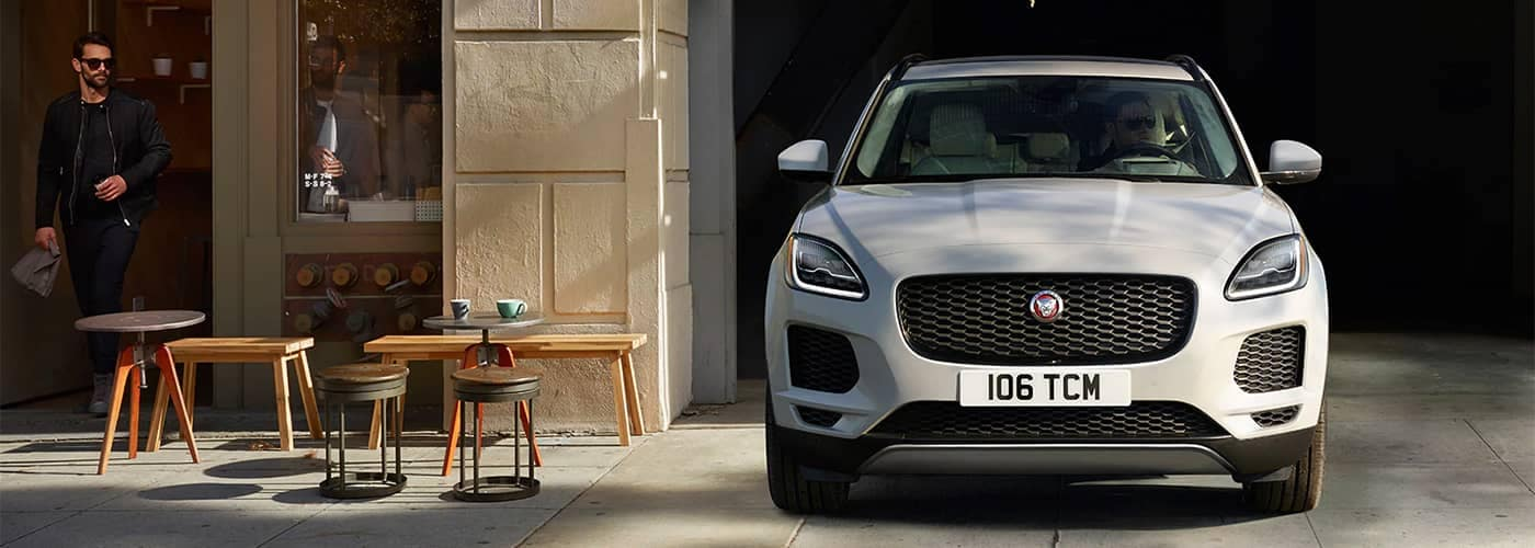 Jaguar E-PACE Pulling Out of Garage