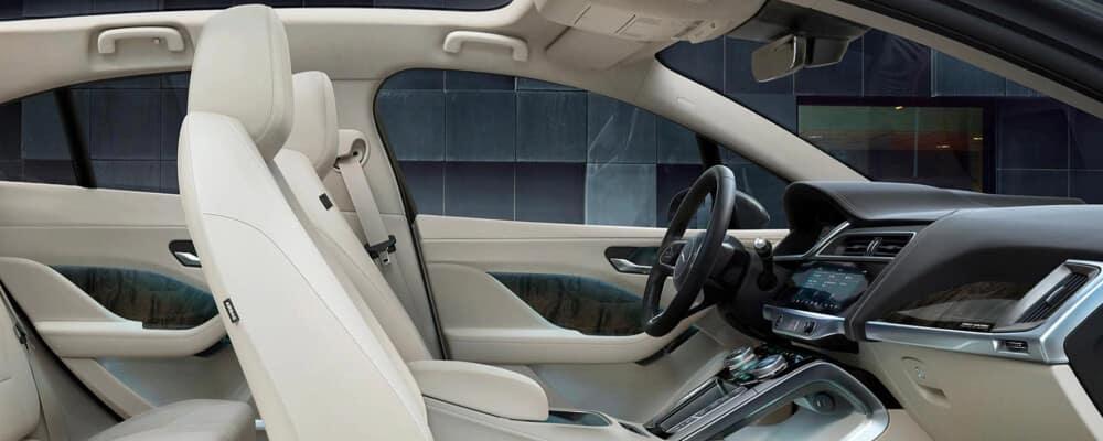 2020 Jaguar I-PACE white Interior cross section