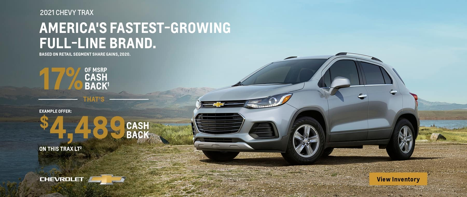 2021 chevy trax example offer: of msrp cash back $sch chevrolet on this trax lt2 view inventory
