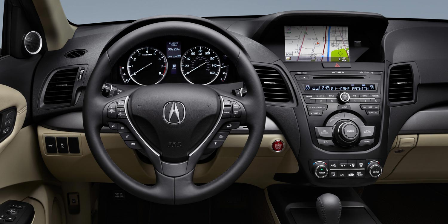 2015 RDX Navigation system with nav controls on console