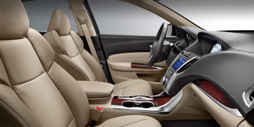 Interior of TLX with Technology package featuring heated and ventilated seats