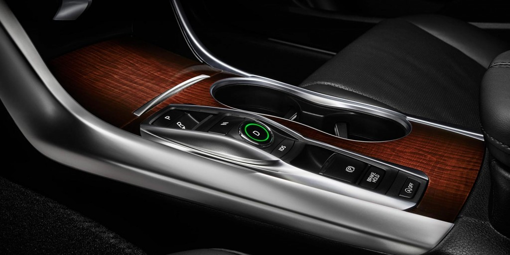 V6 models feature push buttons to start and stop
