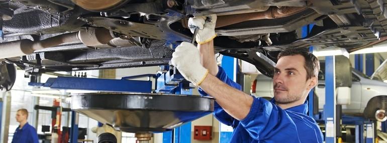 Technician services car