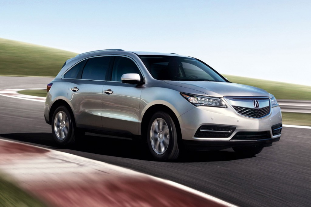 2016 Acura MDX on road