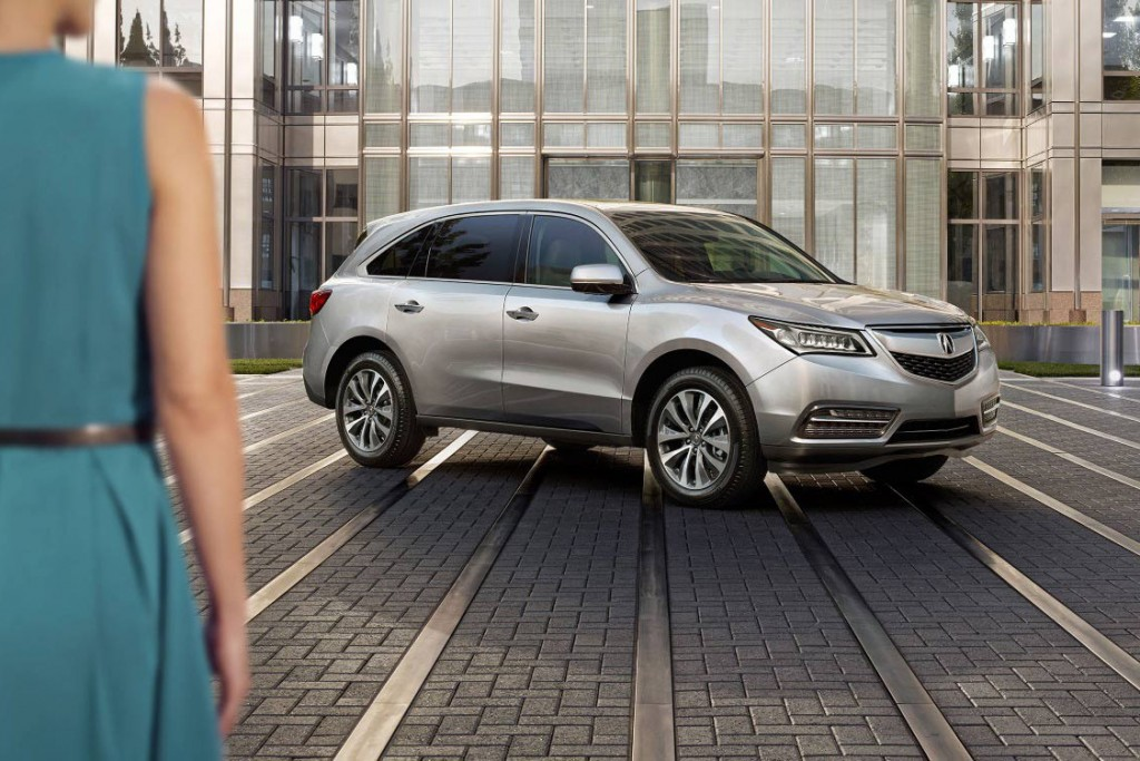 2016 Acura MDX parked