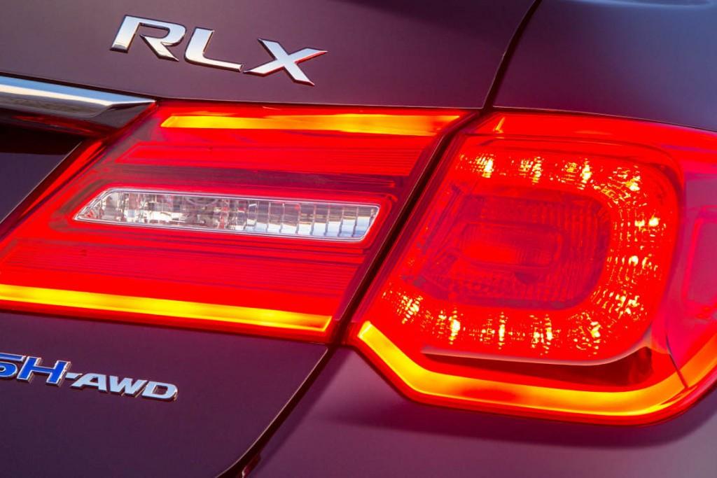 2016 Acura RLX Badge and Rear light