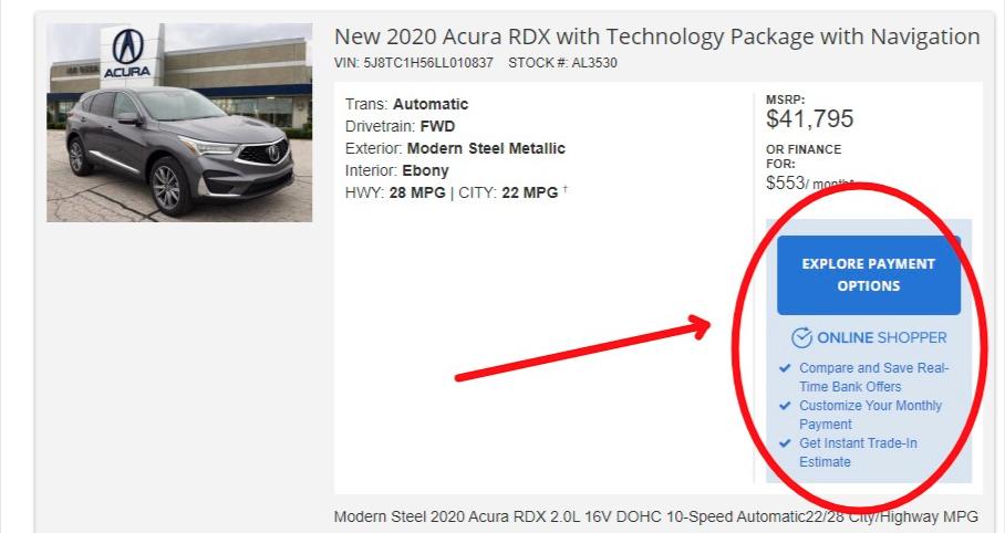 Acura Shop Online