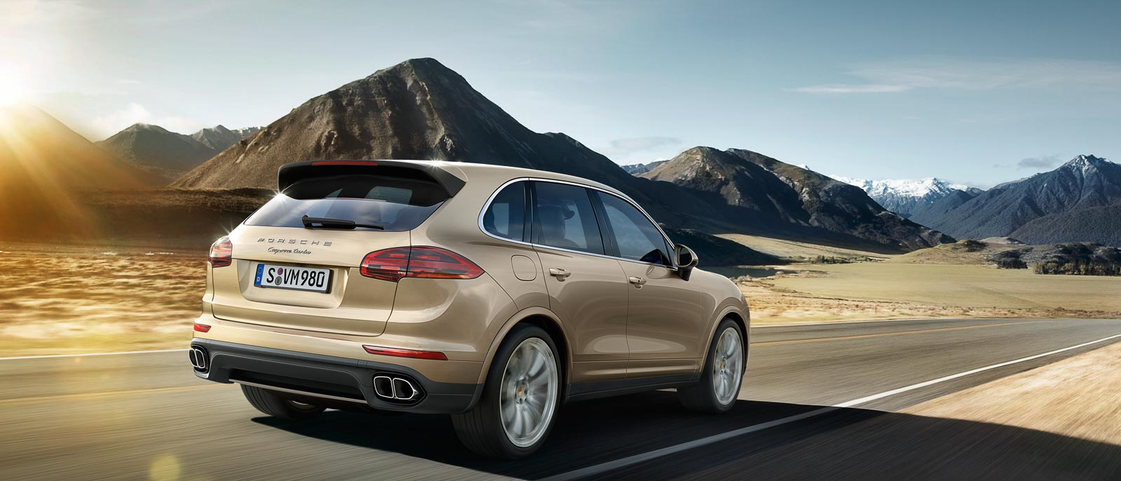 2015 Porsche Cayenne Turbo in the country