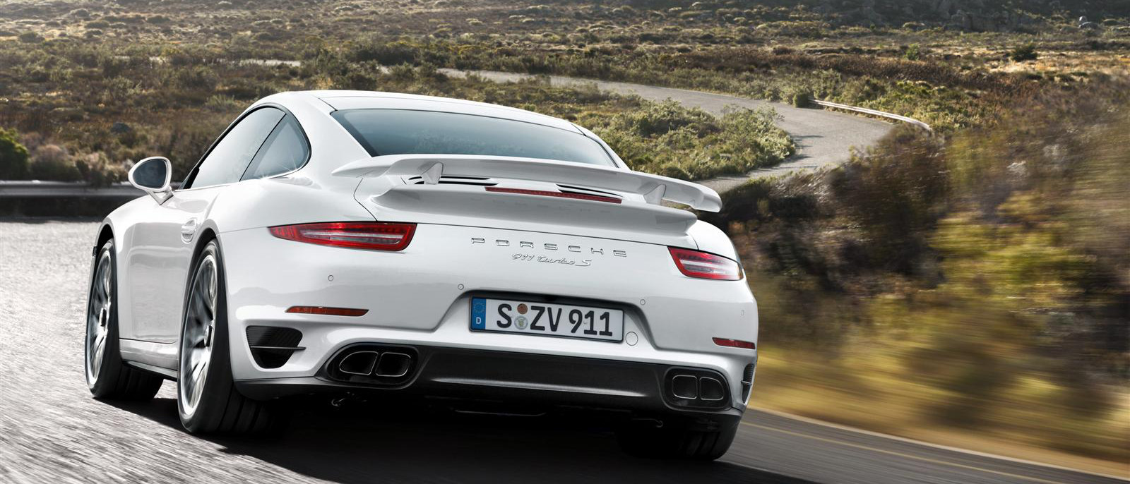 2015 porsche 911 turbo s rear exterior