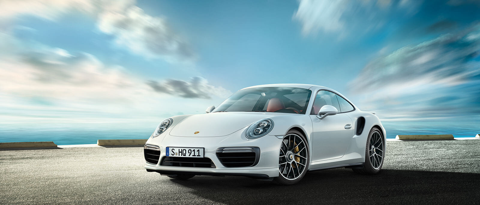 2016 Porsche 911 Turbo S front view in desert scene