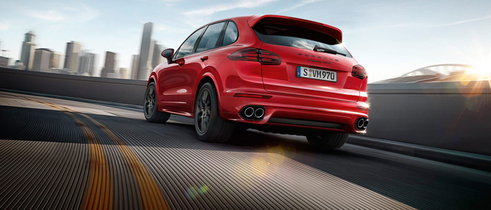 2016 Porsche Cayenne GTS on the highway
