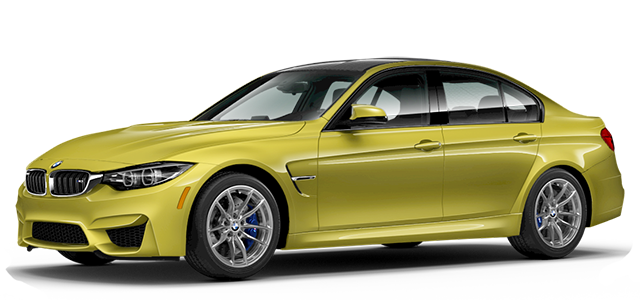 2018 BMW M3 Yellow
