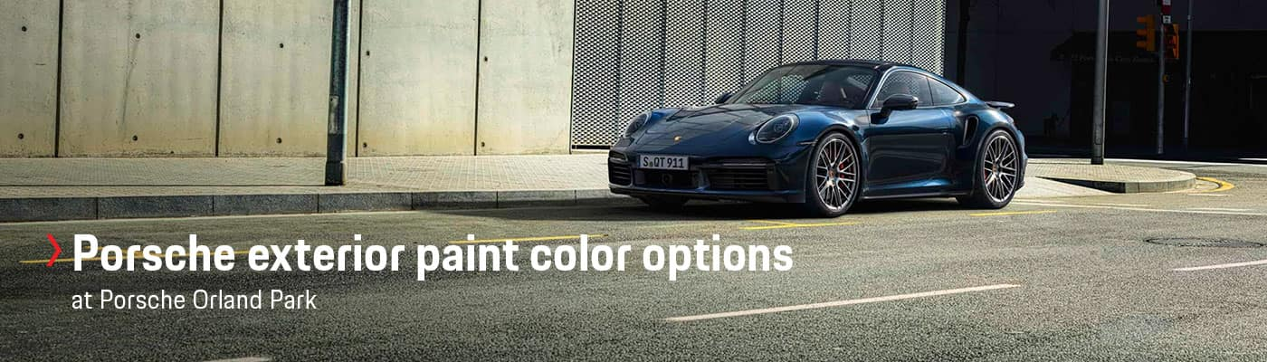 Porsche Exterior Paint Color Options