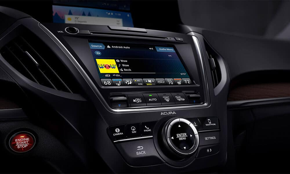 2018 Acura MDX Advance Entertainment Pkgs On Demand Multi-Use Display