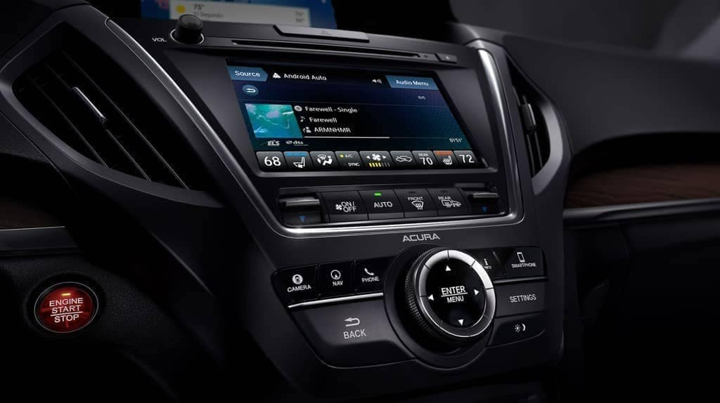 2019 Acura MDX infotainment display