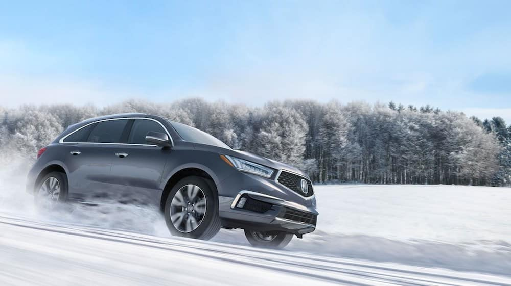 2019 MDX on a snowy road