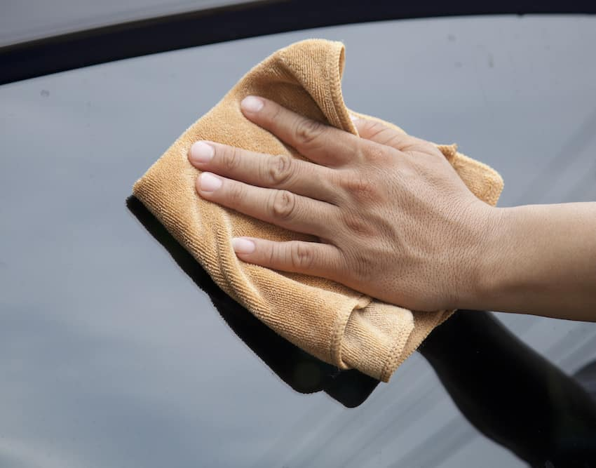 Hand-Drying a car