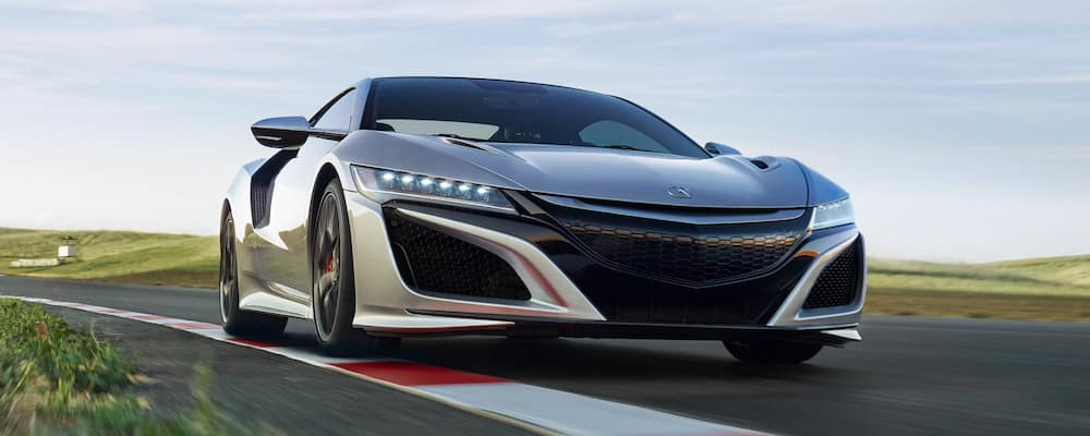 2019 Acura NSX on the track