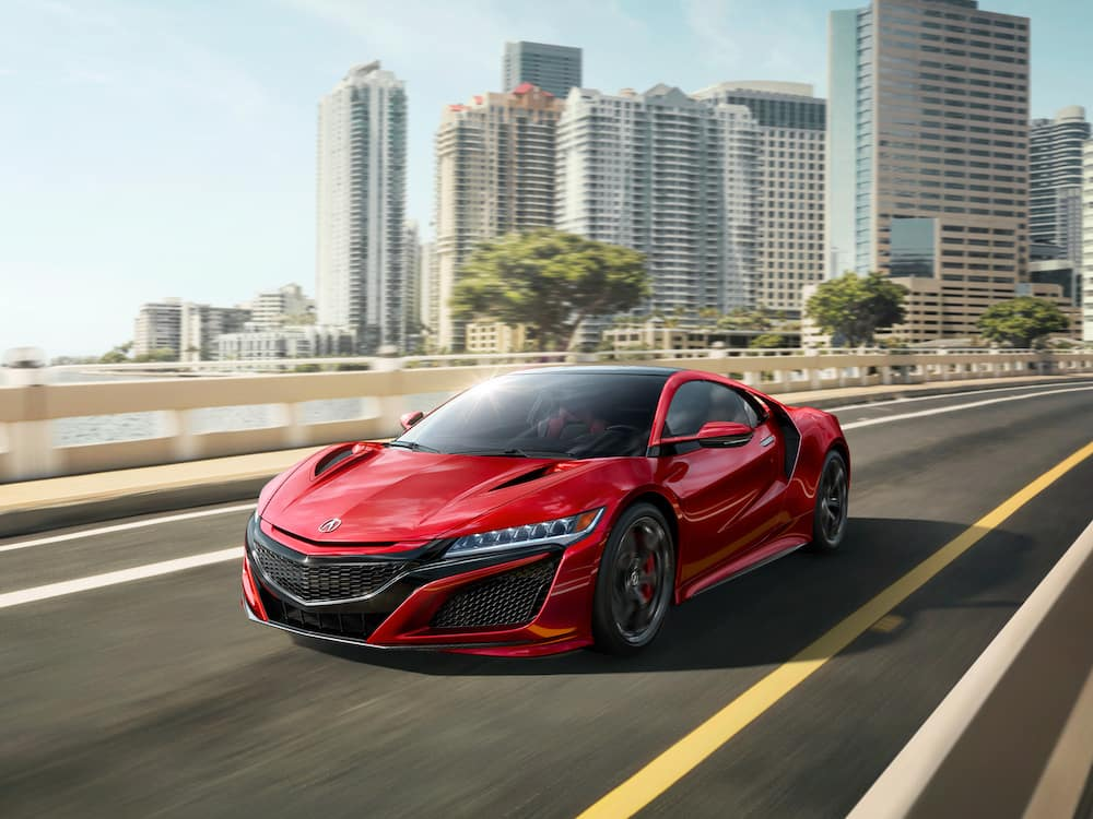 2019 NSX on a sunny road