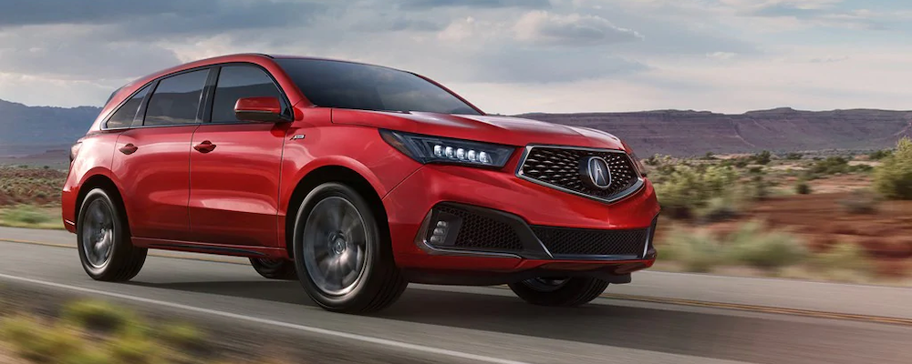2019 Acura MDX on the road