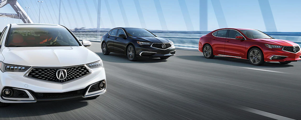 2020 Acura TLX models on the road