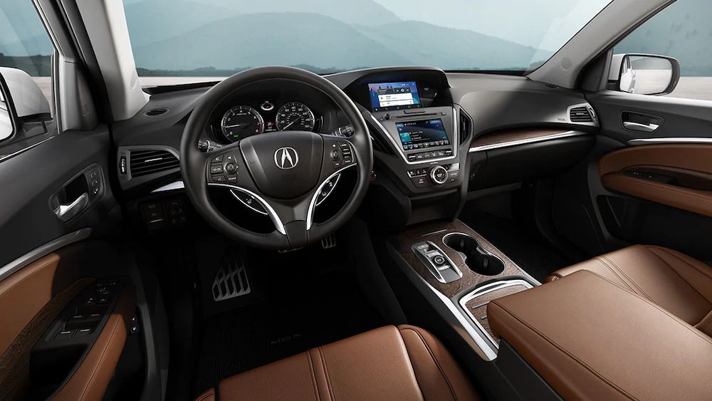 2020 MDX dash with Android Auto onscreen