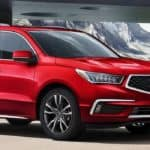 Parked red 2020 MDX