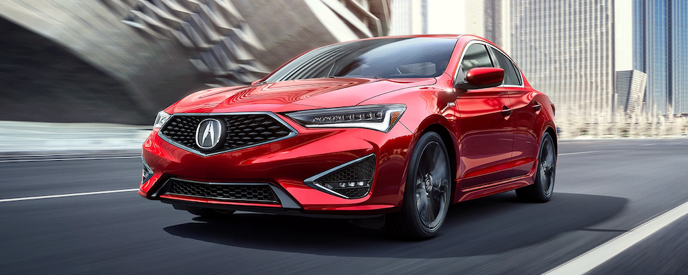 Red 2020 Acura ILX on the road