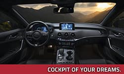 Cockpit of the new Kia Stinger