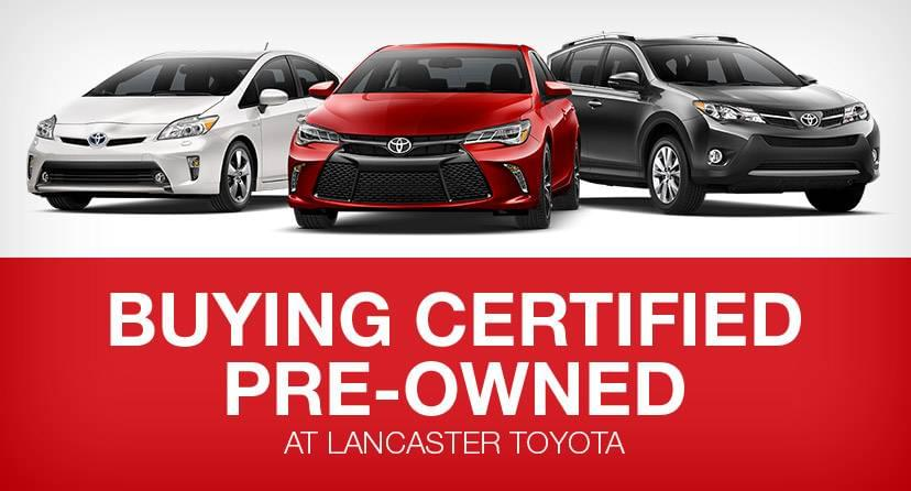 Certified Pre-Owned at Lancaster Toyota
