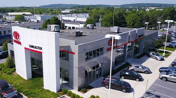 Aerial View of Lancaster Toyota dealership