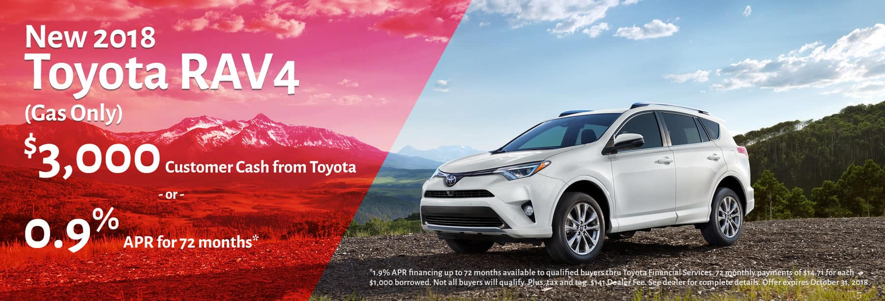 Toyota RAV4 October 2018 Promotion