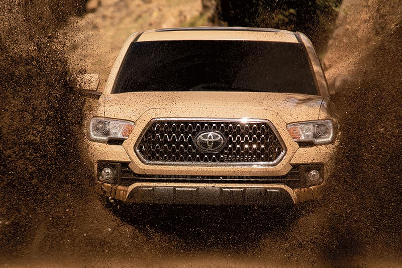Accessories that help keep your Toyota protected at Lancaster Toyota in East Petersburg | Muddy tacoma
