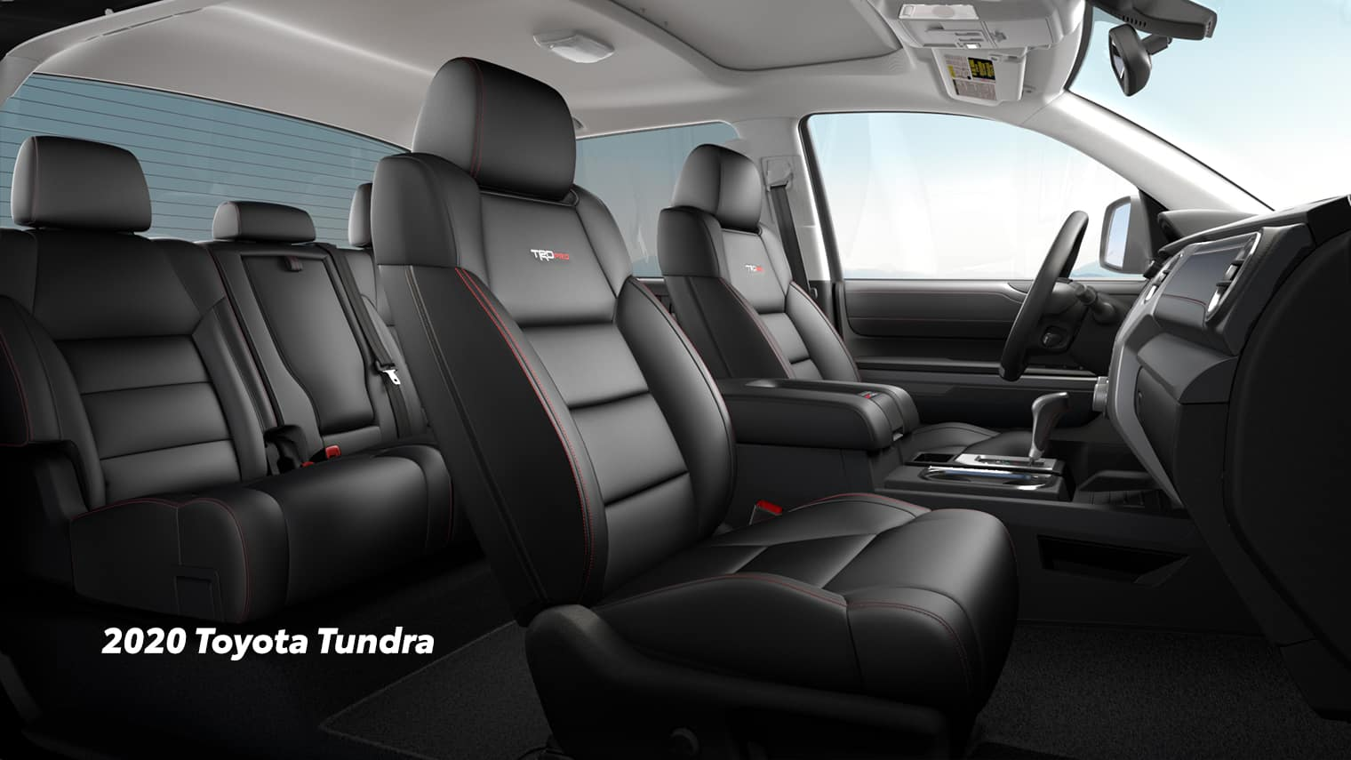 Comparison of the Toyota Tacoma vs. Tundra trucks at Lancaster Toyota of East Petersburg | The interior of 2020 Toyota Tundra