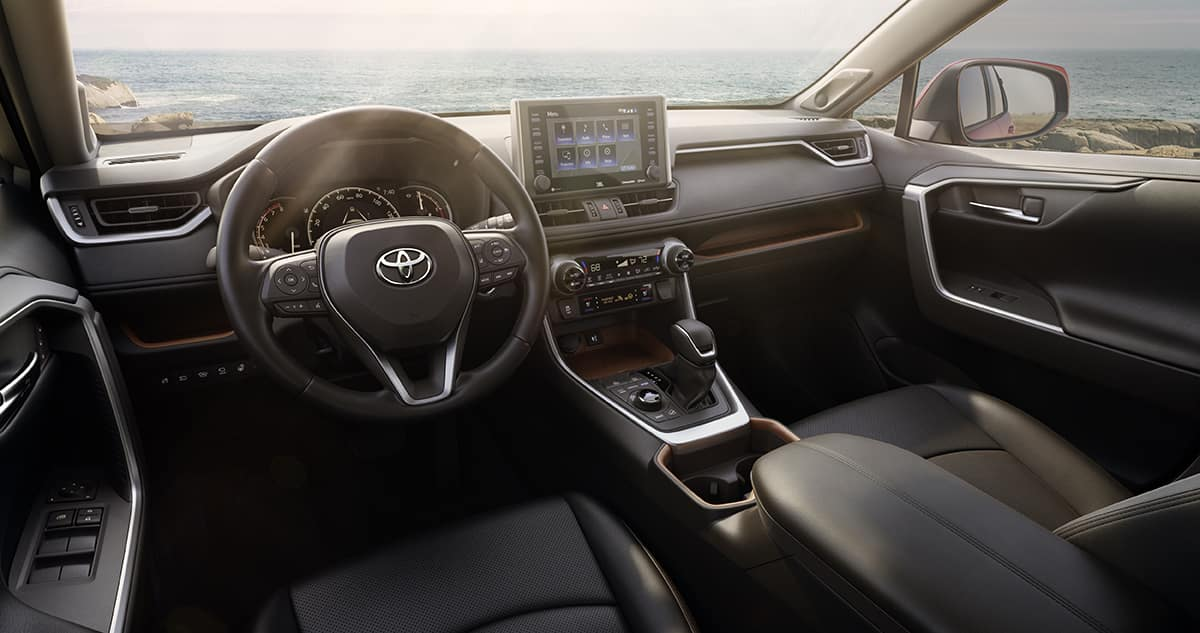 Comparison of the Toyota RAV4 and the Honda CR-V crossovers at Lancaster Toyota | The interior of the 2019 RAV4