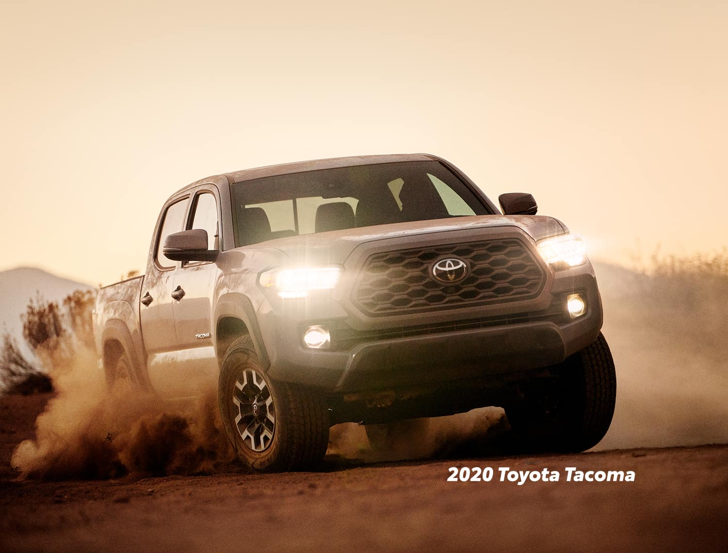 Comparison of the Toyota Tacoma vs. Tundra trucks at Lancaster Toyota of East Petersburg | 2020 Toyota Tacoma cover in dust